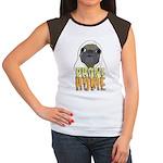 phone home pug dog look Women's Cap Sleeve T-Shirt