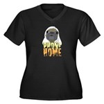 phone home pug dog look Women's Plus Size V-Neck D