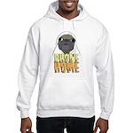 phone home pug dog look Hooded Sweatshirt