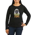 phone home pug dog look Women's Long Sleeve Dark T