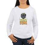phone home pug dog look Women's Long Sleeve T-Shir