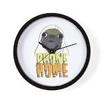 phone home pug dog look Wall Clock