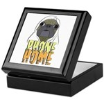 phone home pug dog look Keepsake Box