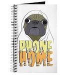 phone home pug dog look Journal