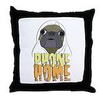 phone home pug dog look Throw Pillow
