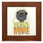 phone home pug dog look Framed Tile