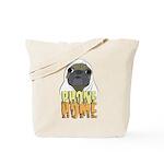 phone home pug dog look Tote Bag