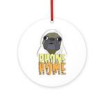 phone home pug dog look Ornament (Round)