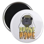 phone home pug dog look Magnet