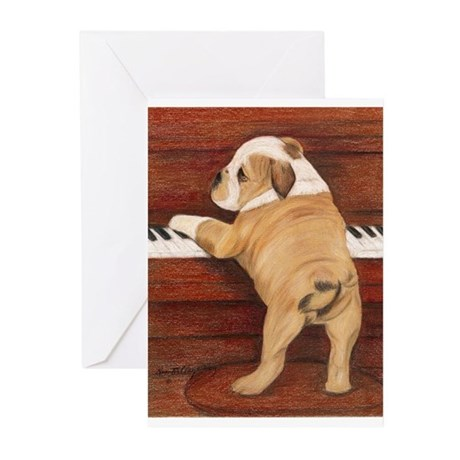 Piano Pup Greeting Cards (Pk of 10)