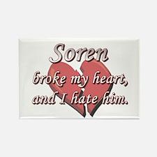 Soren broke my heart and I hate him Rectangle Magn
