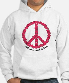 Hearts Peace Sign Hoodie