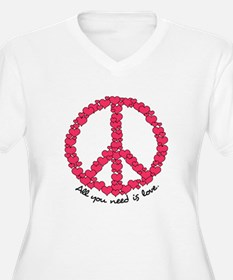 Hearts Peace Sign T-Shirt