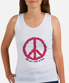 Hearts Peace Sign Women's Tank Top