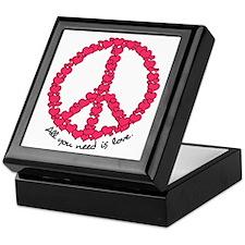 Hearts Peace Sign Keepsake Box