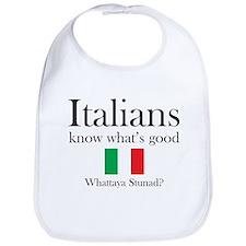 Unique Italian saying Bib