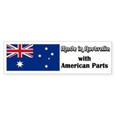 Made in Australia Bumper Car Sticker