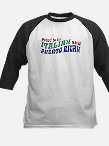 Proud Italian Puerto Rican Kids Baseball Jersey