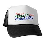 Proud Italian Puerto Rican Trucker Hat