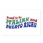 Proud Italian Puerto Rican Postcards (Package of 8