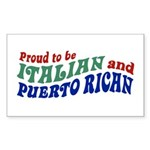 Proud Italian Puerto Rican Rectangle Sticker