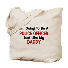 Police Officer Daddy Professi Tote Bag