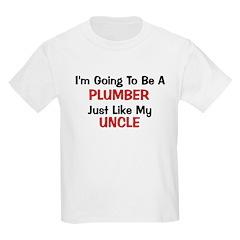 Plumber Uncle Profession Kids Light T-Shirt