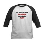 Plumber Aunt Profession Kids Baseball Jersey