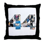44: Obama Inauguration Newspaper Throw Pillow