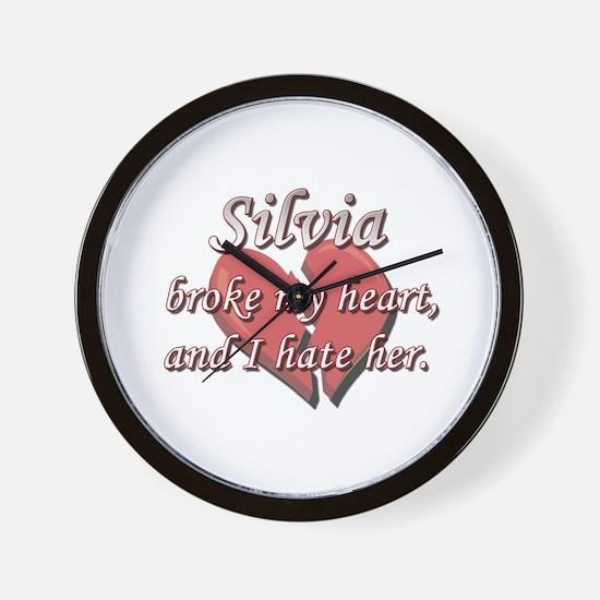 Silvia broke my heart and I hate her Wall Clock