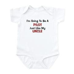 Pilot Uncle Profession Infant Bodysuit