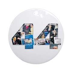 44: Obama Inauguration Newspaper Ornament (Round)