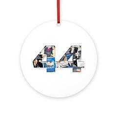 44: Obama Inauguration Newspaper Ornament (Round)