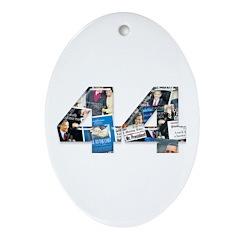 44: Obama Inauguration Newspaper Oval Ornament