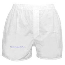 Will Procrastinate for Food Boxer Shorts