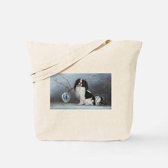Cute Japanese chin Tote Bag