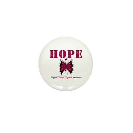 Multiple Myeloma Butterfly Mini Button