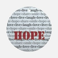 HOPE Inspirational Collage (red) Ornament (Round)