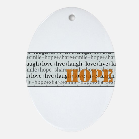 HOPE Inspirational Collage (o.) Oval Ornament