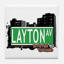 LAYTON AVENUE, STATEN ISLAND, NYC Tile Coaster