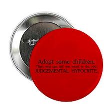 "No Hypocrisy 2.25"" Button (100 pack)"