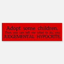 No Hypocrisy Bumper Bumper Bumper Sticker