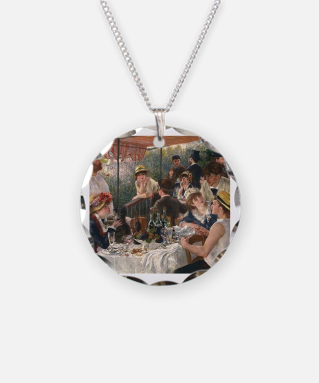 Cute Renoir luncheon of boating party Necklace