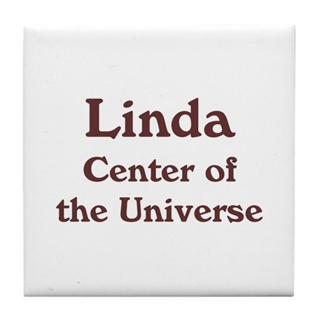 Personalized Linda Tile Coaster