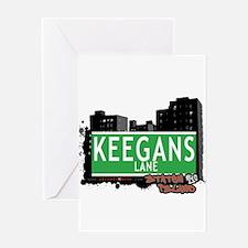 KEEGANS LANE, STATEN ISLAND, NYC Greeting Card