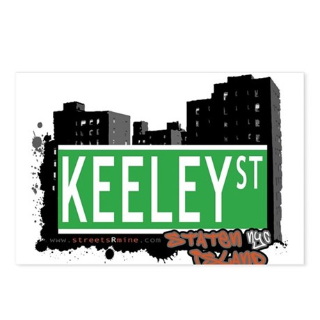 KEELEY STREET, STATEN ISLAND, NYC Postcards (Packa
