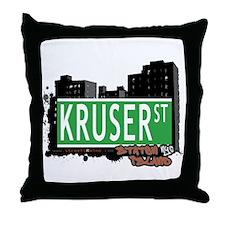 KRUSER STREET, STATEN ISLAND, NYC Throw Pillow