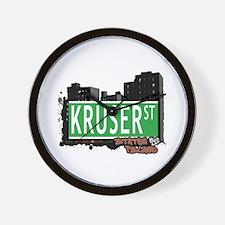 KRUSER STREET, STATEN ISLAND, NYC Wall Clock