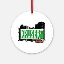 KRUSER STREET, STATEN ISLAND, NYC Ornament (Round)