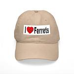 I Love Ferrets Cap
